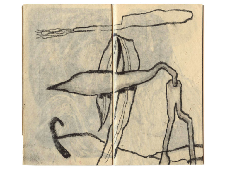 Little Orange Sketchbook | Mixed media on paper, 25x20 cm, 2018